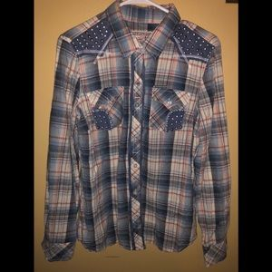 Affliction Black Premium Plaid
